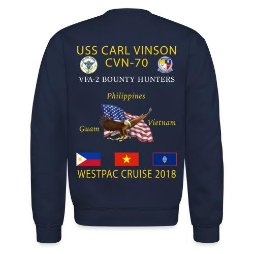 VFA-2 w/ USS CARL VINSON 2018 CRUISE SWEATSHIRT - Crewneck Sweatshirt