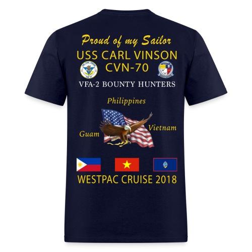 VFA-2 w/ USS CARL VINSON 2018 CRUISE SHIRT - FAMILY - Men's T-Shirt
