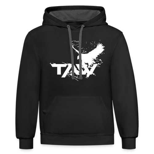 TAW Eagle Unisex Hoodie (Customization Available) - Contrast Hoodie