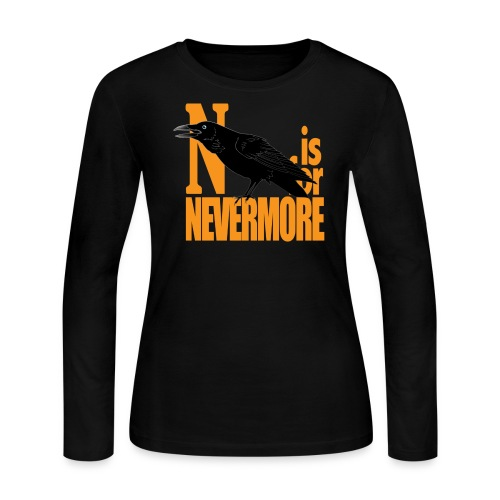 N is for Nevermore Women's Long Sleeve 2 - Women's Long Sleeve Jersey T-Shirt