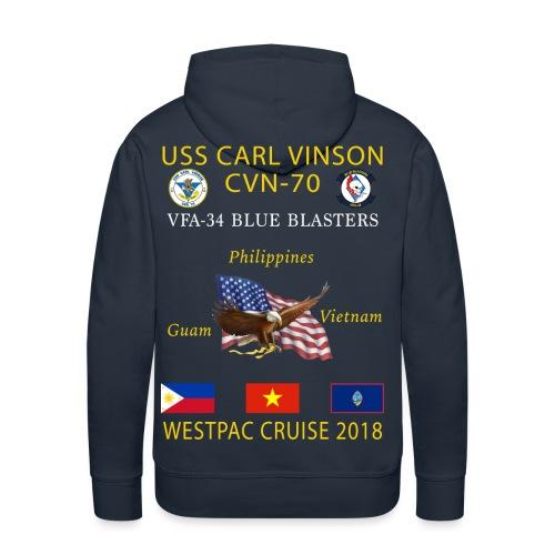 VFA-34 w/ USS CARL VINSON 2018 CRUISE HOODIE  - Men's Premium Hoodie