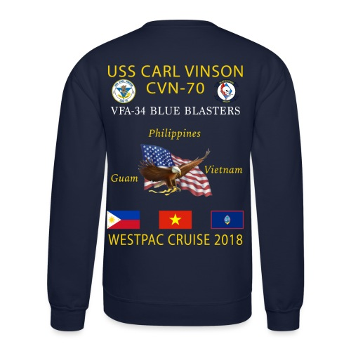 VFA-34 w/ USS CARL VINSON 2018 CRUISE SWEATSHIRT - Crewneck Sweatshirt
