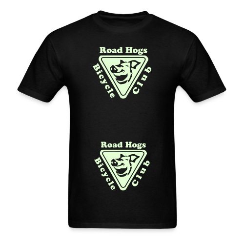 Road Hogs Bicycle Club - Glow in the Dark-Cut Up - Men's T-Shirt