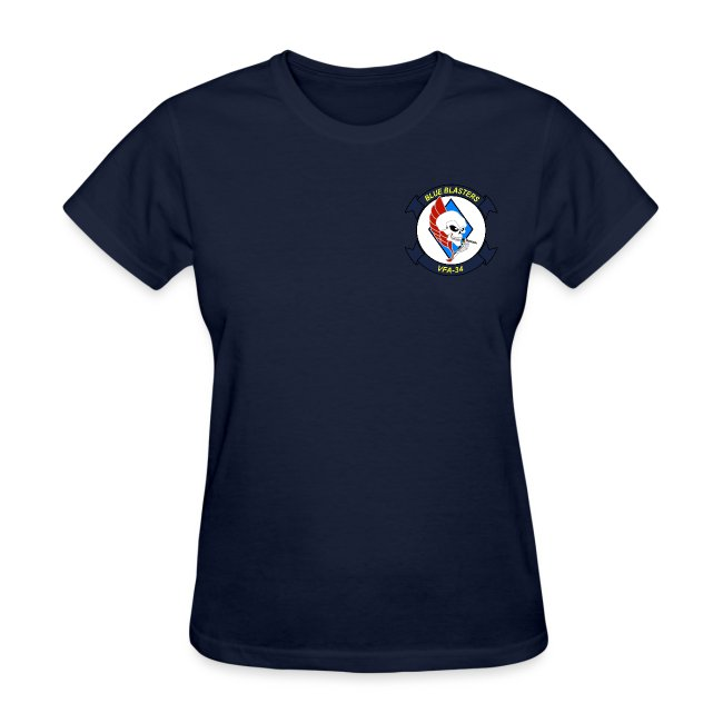 VFA-34 w/ USS CARL VINSON 2018 WOMENS CRUISE SHIRT - FAMILY
