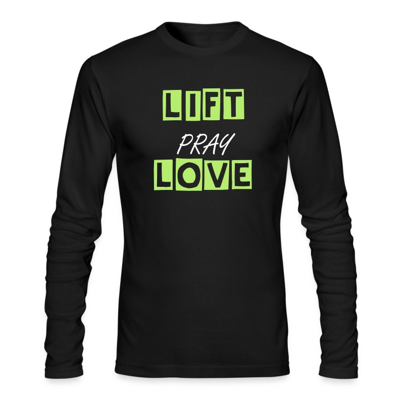 liftpraylove long sleeve - Men's Long Sleeve T-Shirt by Next Level
