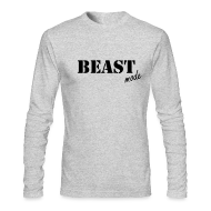 Long Sleeve Shirts ~ Men's Long Sleeve T-Shirt by American Apparel ~ beast mode long sleeve t