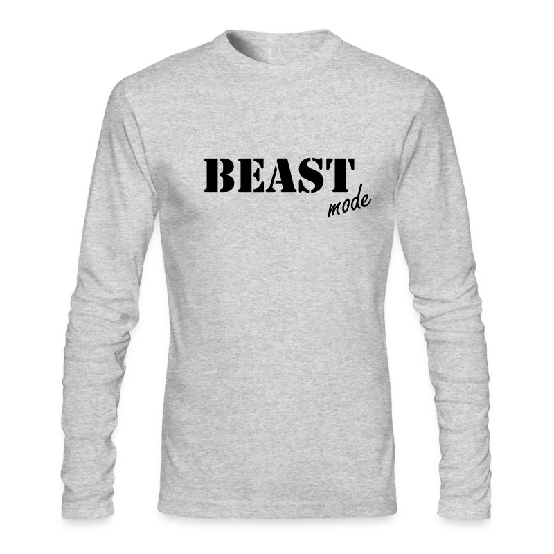beast mode long sleeve t - Men's Long Sleeve T-Shirt by Next Level
