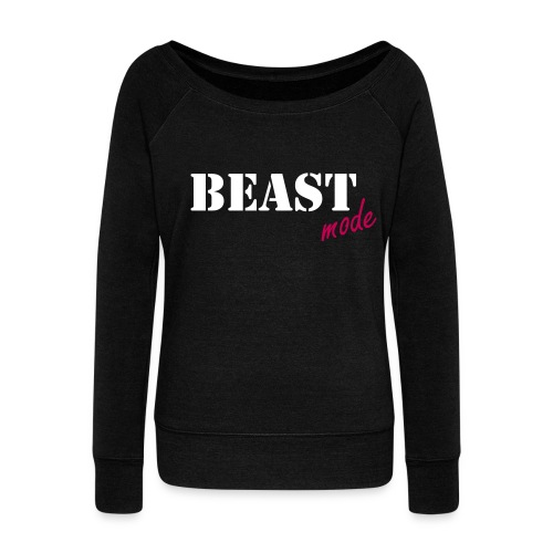 beast mode off the shoulder sweatshirt - Women's Wideneck Sweatshirt