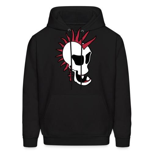 Punk Skull Hooded Sweatshirt - Men's Hoodie