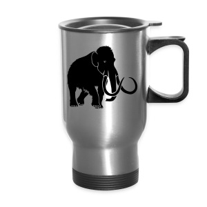 animal t-shirt mammoth elephant tusk ice age mammut - Travel Mug
