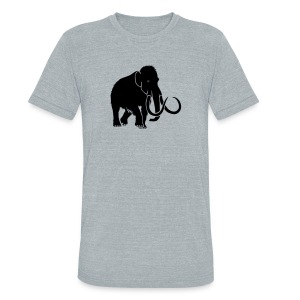 animal t-shirt mammoth elephant tusk ice age mammut - Unisex Tri-Blend T-Shirt by American Apparel