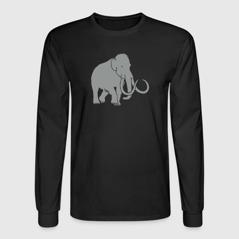animal t-shirt mammoth ice age cave hunter tusk Long Sleeve Shirts - Men's Long Sleeve T-Shirt