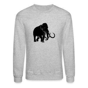 animal t-shirt mammoth elephant tusk ice age mammut - Crewneck Sweatshirt