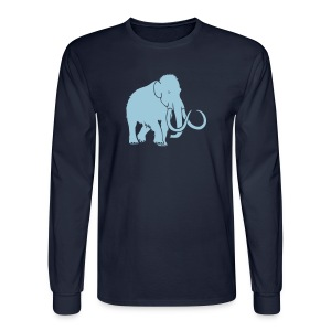 animal t-shirt mammoth elephant tusk ice age mammut - Men's Long Sleeve T-Shirt