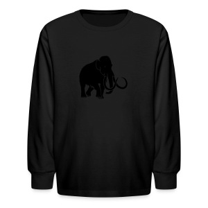 animal t-shirt mammoth elephant tusk ice age mammut - Kids' Long Sleeve T-Shirt