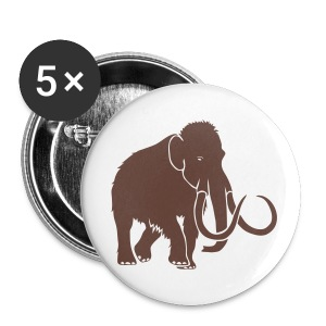 animal t-shirt mammoth elephant tusk ice age mammut - Large Buttons