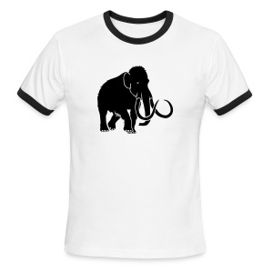 animal t-shirt mammoth elephant tusk ice age mammut - Men's Ringer T-Shirt