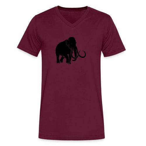 animal t-shirt mammoth elephant tusk ice age mammut - Men's V-Neck T-Shirt by Canvas