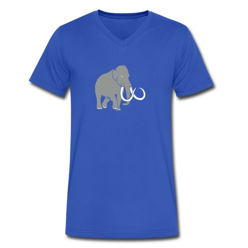animal t-shirt mammoth elephant tusk ice age mammut - Men's V-Neck T-Shirt by Canvas