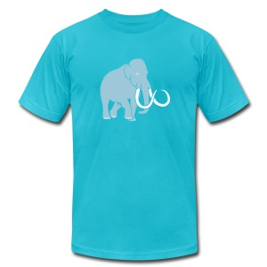 animal t-shirt mammoth elephant tusk ice age mammut - Men's T-Shirt by American Apparel
