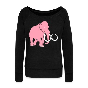 animal t-shirt mammoth elephant tusk ice age mammut - Women's Wideneck Sweatshirt