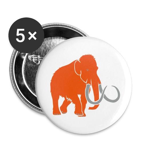 animal t-shirt mammoth elephant tusk ice age mammut - Buttons large 2.2'' (5-pack)