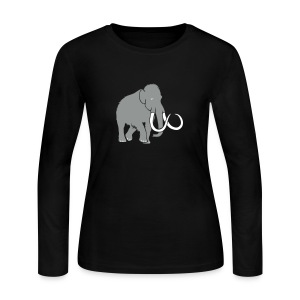 animal t-shirt mammoth elephant tusk ice age mammut - Women's Long Sleeve Jersey T-Shirt