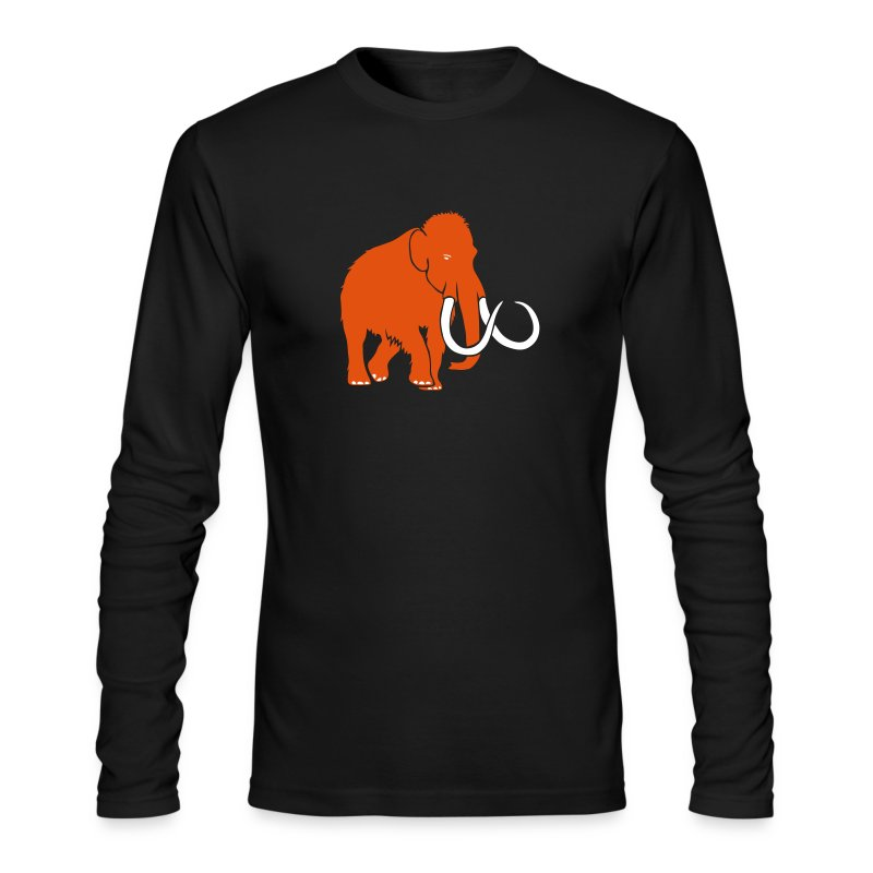 animal t-shirt mammoth elephant tusk ice age mammut - Men's Long Sleeve T-Shirt by Next Level