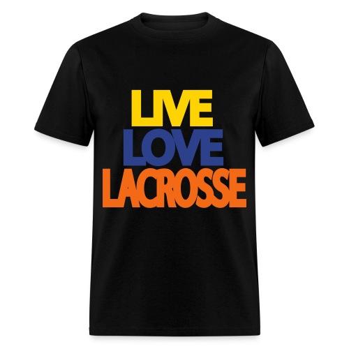 Live Love Lacrosse (Men's) - Men's T-Shirt
