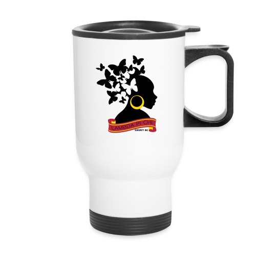 Butterfly Hair Woman Travel Mug - Travel Mug