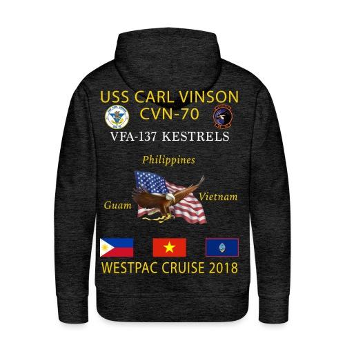 VFA-137 w/ USS CARL VINSON 2018 CRUISE HOODIE  - Men's Premium Hoodie