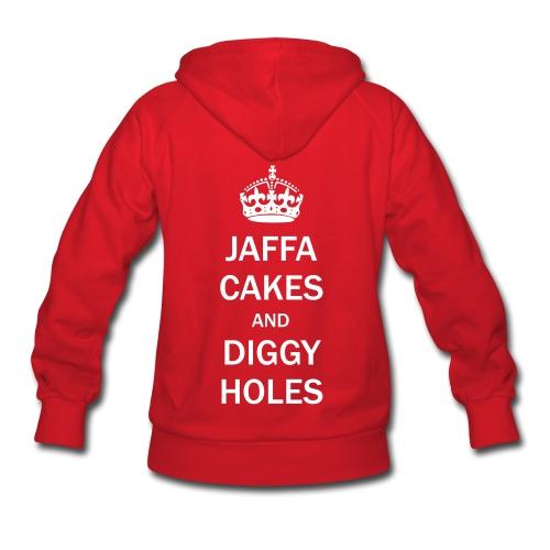 Ladies Hoodie: Jaffa Cakes/Diggy Holes - Women's Hoodie