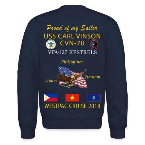 VFA-137 w/ USS CARL VINSON 2018 CRUISE SWEATSHIRT - FAMILY - Crewneck Sweatshirt