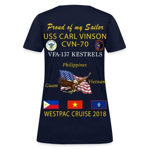 VFA-137 w/ USS CARL VINSON 2018 WOMENS CRUISE SHIRT - FAMILY - Women's T-Shirt
