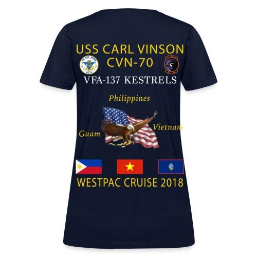 VFA-137 w/ USS CARL VINSON 2018 WOMENS CRUISE SHIRT - Women's T-Shirt