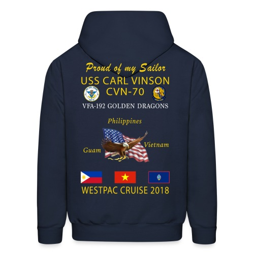 VFA-192 w/ USS CARL VINSON 2018 CRUISE HOODIE - FAMILY - Men's Hoodie