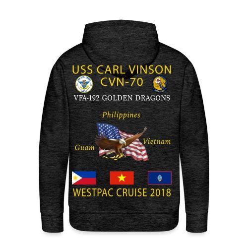 VFA-192 w/ USS CARL VINSON 2018 CRUISE HOODIE  - Men's Premium Hoodie