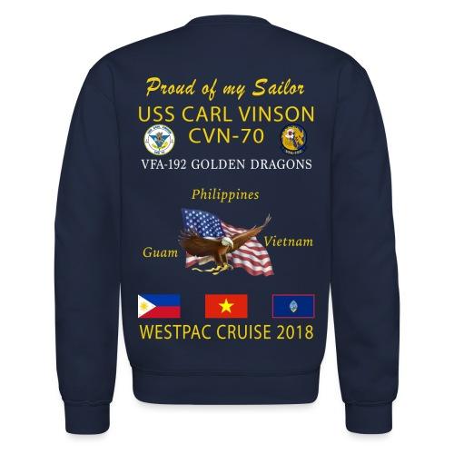 VFA-192 w/ USS CARL VINSON 2018 CRUISE SWEATSHIRT - FAMILY - Crewneck Sweatshirt