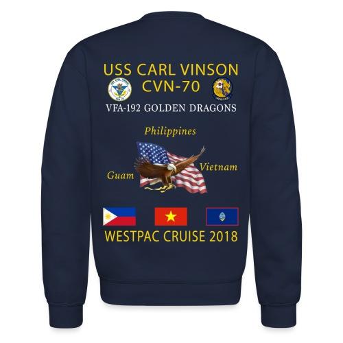 VFA-192 w/ USS CARL VINSON 2018 CRUISE SWEATSHIRT - Crewneck Sweatshirt