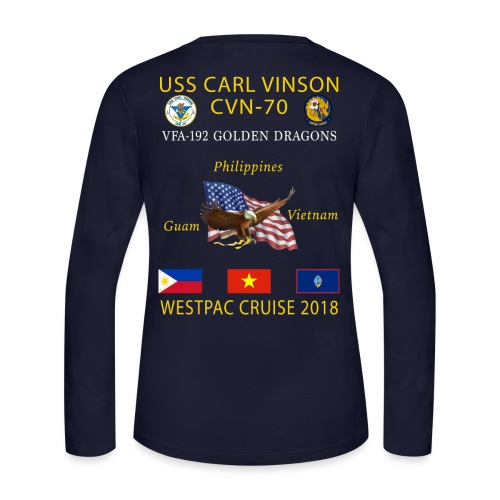 VFA-192 w/ USS CARL VINSON 2018 WOMENS LONG SLEEVE CRUISE SHIRT - Women's Long Sleeve Jersey T-Shirt
