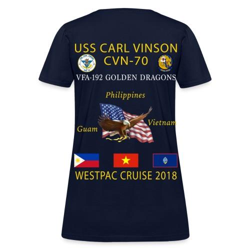 VFA-192 w/ USS CARL VINSON 2018 WOMENS CRUISE SHIRT - Women's T-Shirt