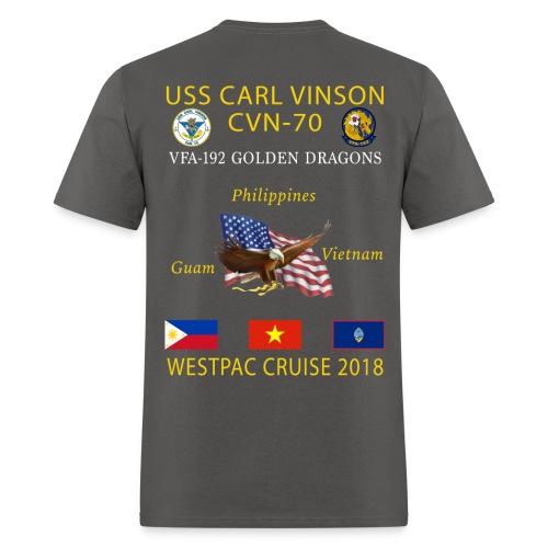 VFA-192 w/ USS CARL VINSON 2018 CRUISE SHIRT - Men's T-Shirt