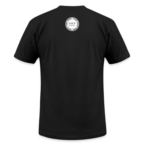 Gilt Backoffice Short-sleeve - Front Simple / Back Rebuild, Destroy - Men's Fine Jersey T-Shirt