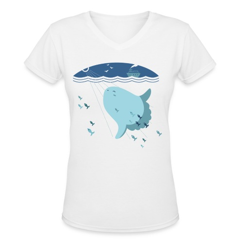 Mola Mola Women's V-Neck T-Shirt - Women's V-Neck T-Shirt