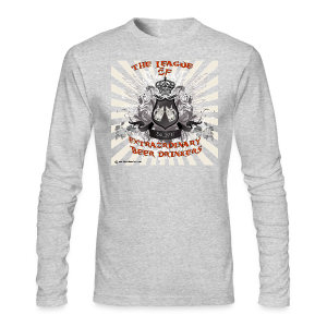 The League of Extraordinary Beer Drinkers Crest Long Sleeve T-Shirt - Men's Long Sleeve T-Shirt by Next Level