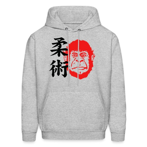 TM Joe Gorilla with Kanji Hoodie - heather gray - Men's Hoodie