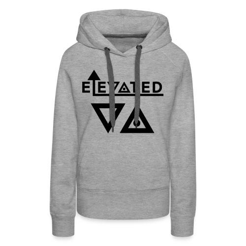 Elevated Women's Hoodie (Triangles) - Women's Premium Hoodie