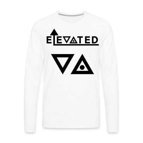 Elevated Men's Long Sleeve Shirt (Triangles) - Men's Premium Long Sleeve T-Shirt