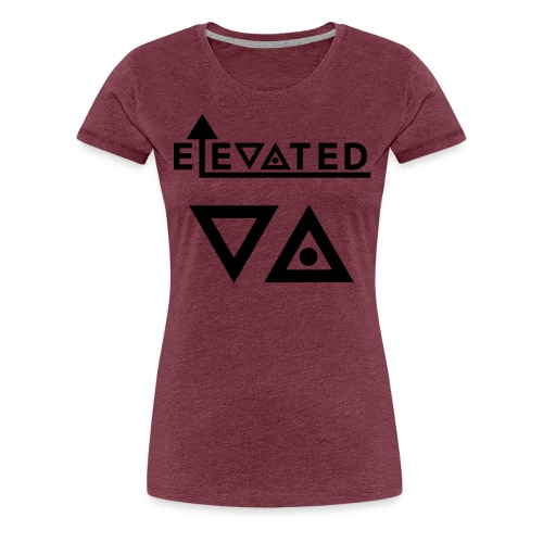 Elevated Women's T-Shirt (Triangles) - Women's Premium T-Shirt