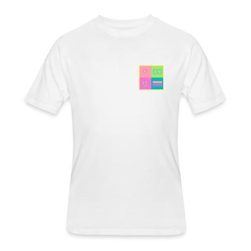 SLUM colour logo - Men's 50/50 T-Shirt